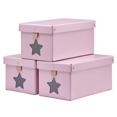 Kids Concept Schuhbox Rosa 3er-Set
