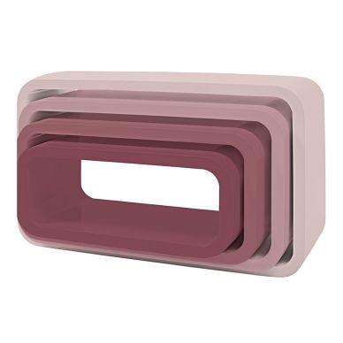 Sebra Cube Regale 4er Set Oval Matte Altrosa