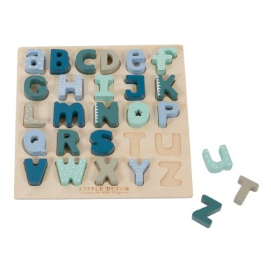 Little Dutch Holz Puzzle Alphabet Mint