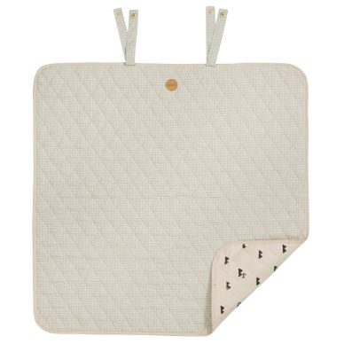 ferm LIVING Grey Cross Wickel-Decke