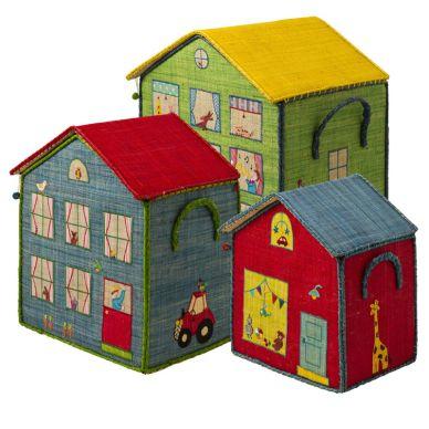 Rice Spielzeugkorb Spielhaus für Jungen