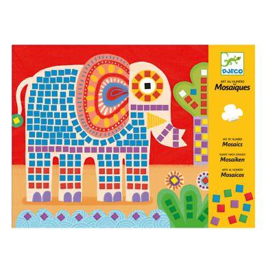 Djeco Mosaik Elefant & Schnecke