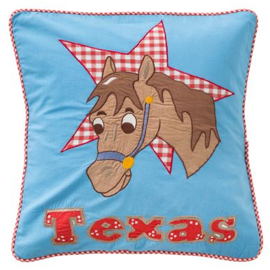 Room Seven Kissenbezug Texas/Pferd Bestickt, Bl...