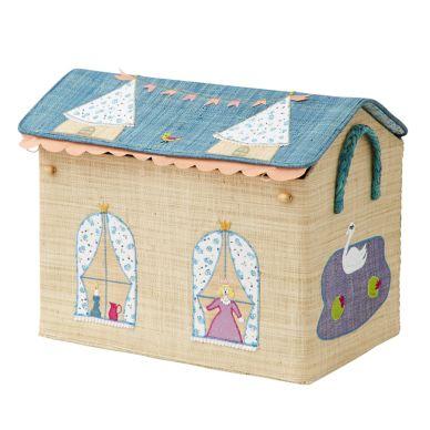 Rice Faltbarer Spielzeugkorb Medium Princess Castle Theme