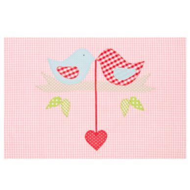 Lottas Lable Decke Vogelhochzeit Rosa