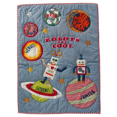 "Room Seven Quilt ""Robots are Cool"" 90x120"