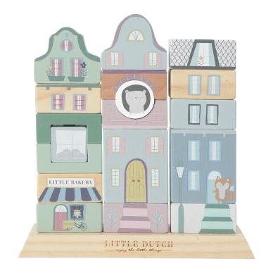 Little Dutch Stapelhaus-Bauklötze Adventure Blue