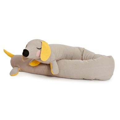Roommate Kuscheltier Lazy Long Dog Grey