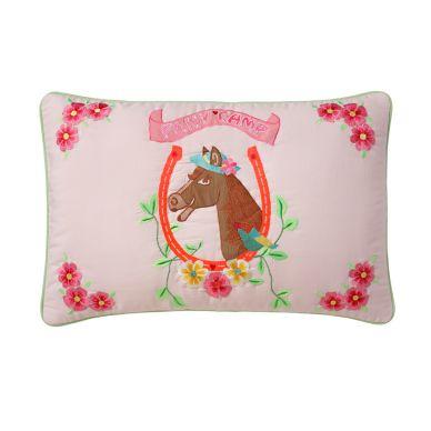 Room Seven Kissenhülle Horse Pink Bestickt