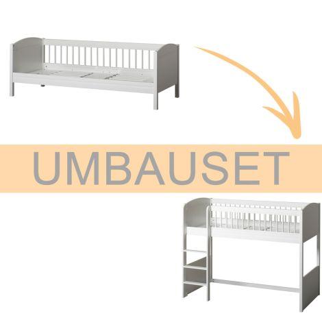 Oliver Furniture Umbauset Seaside Lille+ Juniorbett zum halbhohen Hochbett Weiß