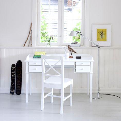 Oliver Furniture Schreibtisch Seaside Weiß H74cm - Sofort Lieferbar!