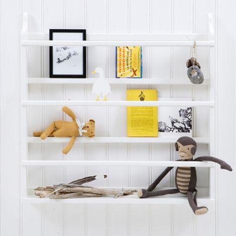 Oliver Furniture Tellerregal & Bücherregal Weiß