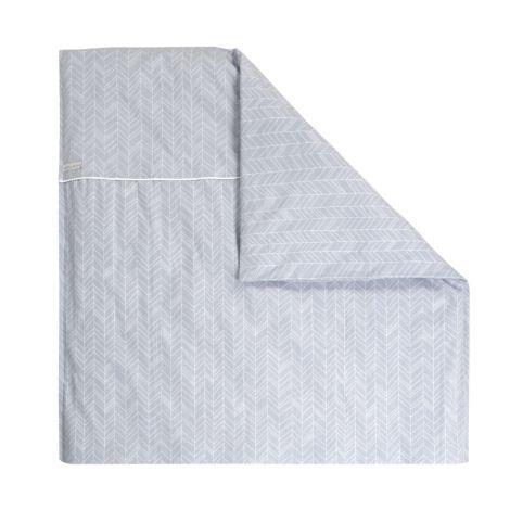 little dutch kinderwagen kissenbezug 80x80 grey leaves online kaufen emil paula kids. Black Bedroom Furniture Sets. Home Design Ideas