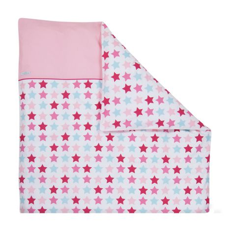 Little Dutch Bettbezug Wiege/Kinderwagen  Mixed Stars Pink