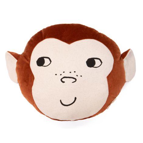 Nobodinoz Kissen Monkey Wild Brown