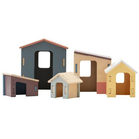 Kids Concept Haus aus Holz 5er-Set