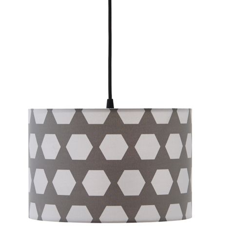Kids Concept Deckenlampe Hexagon Grau •