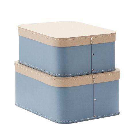 Kids Concept Aufbewahrungsbox Blau 2er-Set