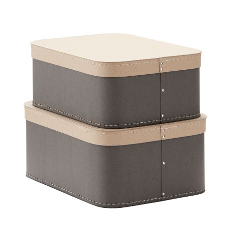 Kids Concept Aufbewahrungsbox Grau 2er-Set