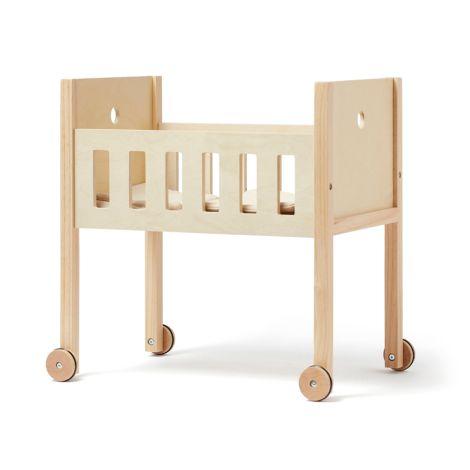 Kids Concept Puppenbett inkl. Bettwäsche Natur
