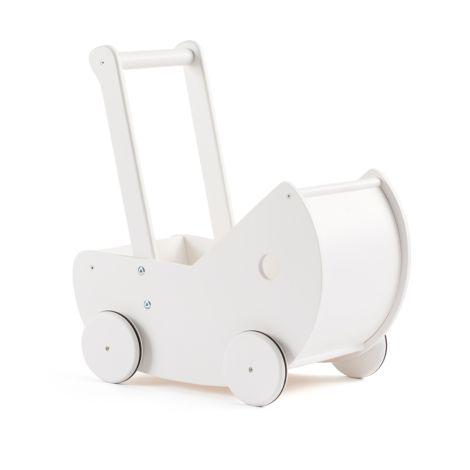 Kids Concept Puppenwagen inkl. Bettwäsche Weiß