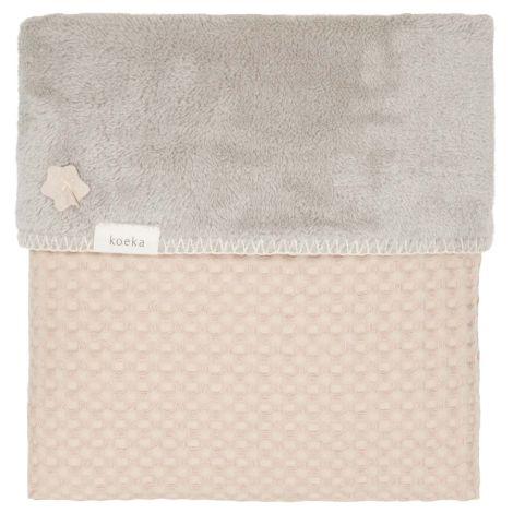 Koeka Decke Waffel Plüsch Oslo Sand/Misty Grey