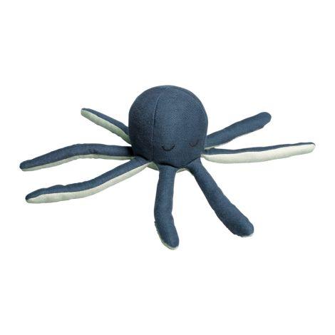 Fabelab Rassel Octopus Blue Spruce / Beach Grass Bio-Baumwolle
