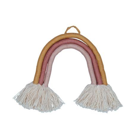 Fabelab Deko-Anhänger Rope Rainbow Small Bio-Baumwolle