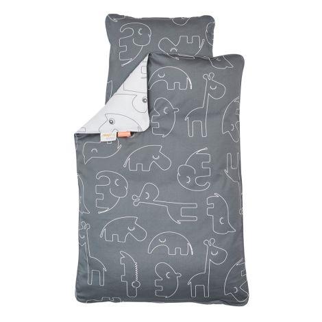 Done by Deer Bettbezug-Junior Sleepy Grey 100 x 135