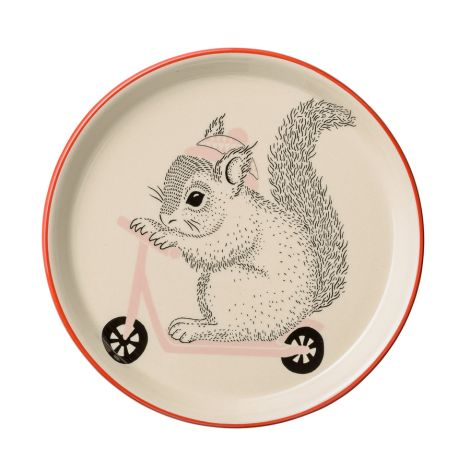 Bloomingville Teller Mollie Squirrel Nude/White/Red