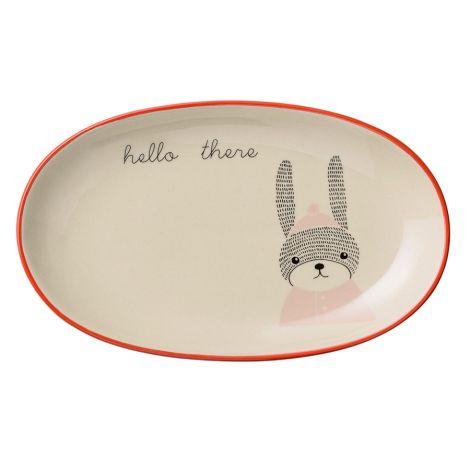 Bloomingville Teller Oval Mollie Rabbit Nude/White