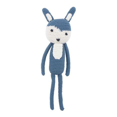 Sebra Häkel-Tier Siggy das Kaninchen Royal Blue