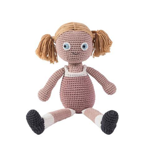 Sebra Häkel-Puppe Rose