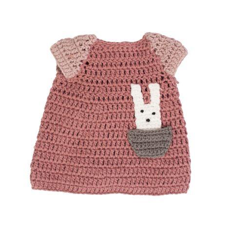 Sebra Kleid Powder Rose für Puppen 40 cm