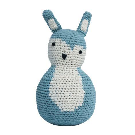 Sebra Häkel-Stehaufmännchen Kaninchen Cloud Blue