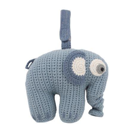Sebra Häkel-Spieluhr Fanto der Elephant Powder Blue