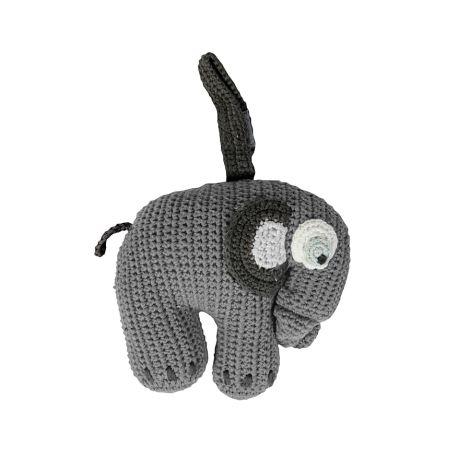 Sebra Häkel-Spieluhr Elefant Grau