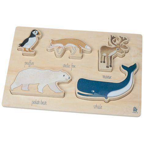 Sebra Puzzle aus Holz Arctic Animals
