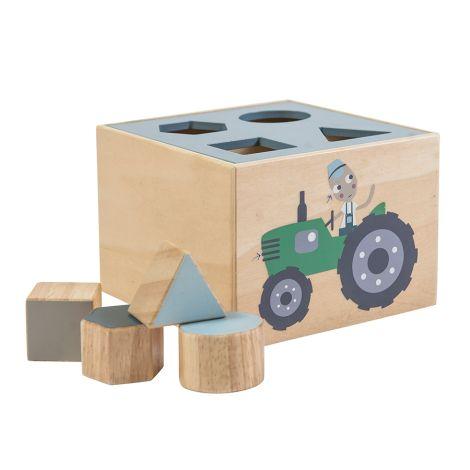 Sebra Formensteckspiel Holz Farm Junge