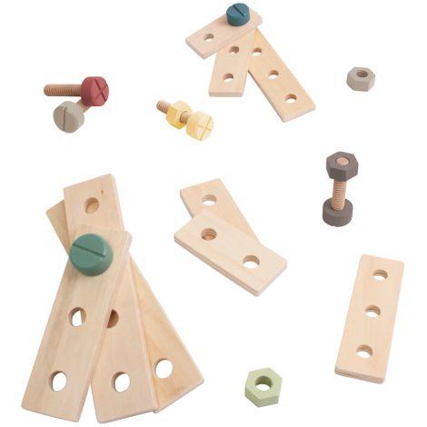Sebra Konstruktions-Spiel Warm Grey Holz