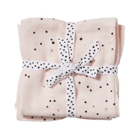 Done by Deer Tuch Swaddle Dreamy Dots Powder 2er-Set