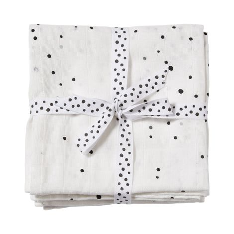 Done by Deer Tuch Swaddle Dreamy Dots White 2er-Set