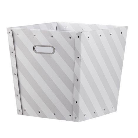 Kids Concept Aufbewahrungsbox Gestreift Grau/Weiß