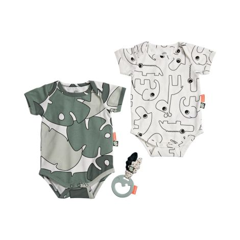 Done by Deer Baby-Body & Rassel Tiny Tropics 3er-Set