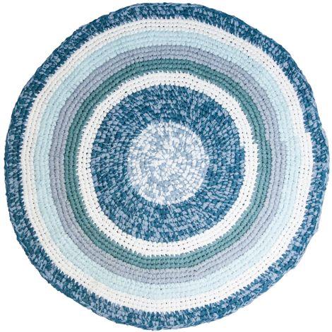 Sebra Häkelteppich Dove Blue Melange