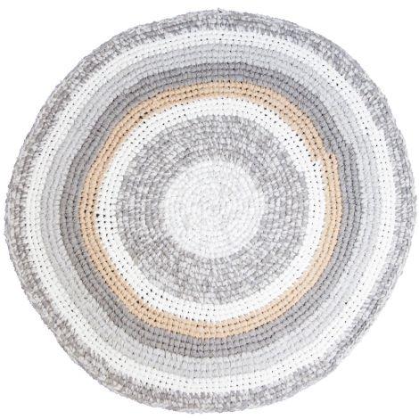 Sebra Häkelteppich Feather Beige Melange