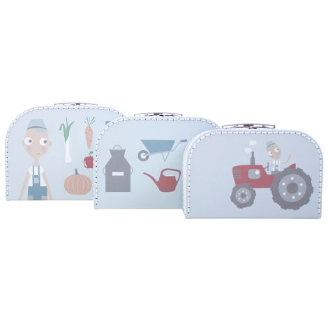 Sebra Kofferset Farm Boy 3er-Set