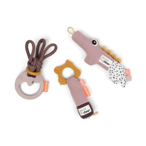 Done by Deer Geschenkset Tiny Toys Deer Friends Rosa