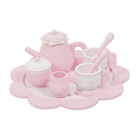 Little Dutch Holz Tee Set Pink