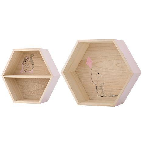 Bloomingville Aufbewahrungs-Box Natural/Nude 2er Set